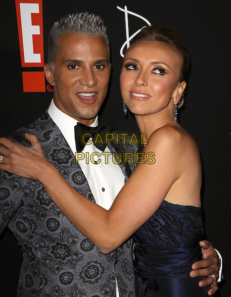 JAY MANUEL & GIULIANA RANCIC  .E! Oscar Viewing And After Party held At Drai's at The W Hotel, Hollywood, California, USA..March 7th, 2010.half length black blue dress strapless silver grey gray tuxedo jacket hand bow tie.CAP/ADM/KB.©Kevan Brooks/AdMedia/Capital Pictures.