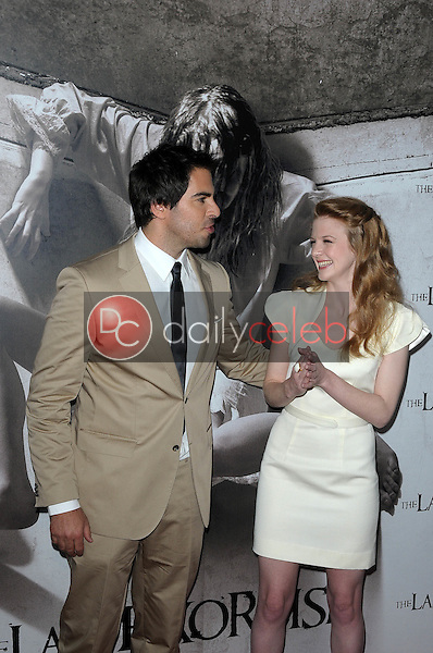 Eli Roth and Ashley Bell<br />