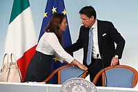 Alessandra Locatelli Minister of Family, Giuseppe Conte <br /> Rome July 11th 2019. The Italian Premier presents to the press the newly appointed Ministers<br /> Foto Samantha Zucchi Insidefoto