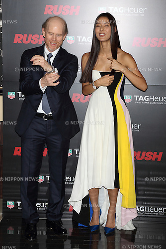 Ron Howard and Sumire, Jan 30, 2014 : director Ron Howard, Sumire attend TAG Heuer Rush special event on 30 Jan 2014, Tokyo Japan