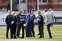 Stephen Eskinazi of Middlesex CCC wins the toss and decides to field first during Middlesex vs Lancashire, Royal London One-Day Cup Cricket at Lord's Cricket Ground on 10th May 2019