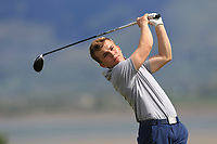 Robert Moran (Castle) on the 11th tee during a practice round for the Flogas Irish Amateur Open Championship 2019 at the Co.Sligo Golf Club, Rosses Point, Sligo, Ireland. 15/05/19<br /> <br /> Picture: Thos Caffrey / Golffile<br /> <br /> All photos usage must carry mandatory copyright credit (© Golffile | Thos Caffrey)