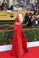 Gwendoline Christie at the 2015 Screen Actor Guild Awards at the Shrine Auditorium on January 25, 2015 in Los Angeles, CA David Edwards/DailyCeleb.com 818-249-4998