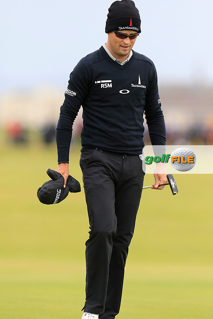 Zach Johnson (USA) walks to the 2nd green during Saturday's Round 3 of the 145th Open Championship held at Royal Troon Golf Club, Troon, Ayreshire, Scotland. 16th July 2016.<br /> Picture: Eoin Clarke | Golffile<br /> <br /> <br /> All photos usage must carry mandatory copyright credit (&copy; Golffile | Eoin Clarke)