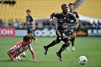Rolieny Bonevacia in action during the A League - Wellington Phoenix v Melbourne City at Westpac Stadium, Wellington, New Zealand on Sunday 30 November 2014.