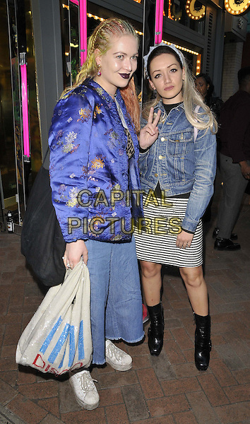 LONDON, ENGLAND - APRIL 08: Lola Chatterton &amp; Louby McLoughlin attend the Monki party to celebrate the start of Spring, Monki boutique, Carnaby St., on Wednesday April 08, 2015 in London, England, UK. <br /> CAP/CAN<br /> &copy;Can Nguyen/Capital Pictures