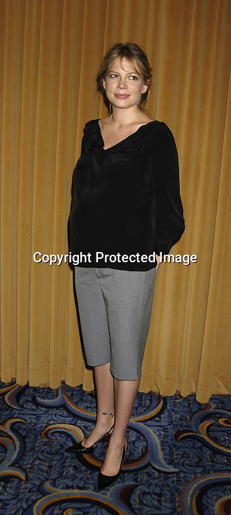 Michelle Williams..at The Motion Picture Club's 65th Annual Awards and Installation Luncheon on October 6, 2005 at The New York Marriott Marquis Hotel. Matthew Broderick, Rachel Weisz, Ang Lee, Patrick Wilson and Michelle Williams were honored...Photo by Robin Platzer, Twin Images