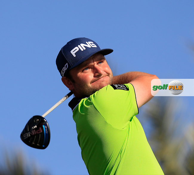 Andy SULLIVAN (ENG) tees off the 11th tee during Thursday's Round 2 of the 2015 Commercial Bank Qatar Masters held at Doha Golf Club, Doha, Qatar.: Picture Eoin Clarke, www.golffile.ie: 1/22/2015