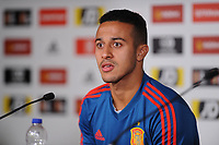 Spain's Thiago during the pre-International Friendly press confrence at the Principality Stadium, Cardiff, UK. Wednesday 10 October 2018