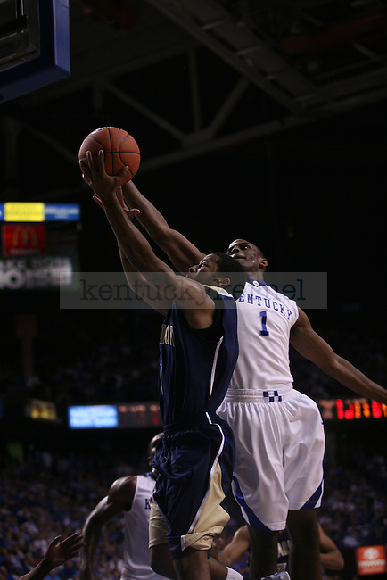 UK sophomore guard Darius Miller battles for the rebound against Clarion at Rupp Arena on Friday, Nov. 6, 2009. The Wildcats won 117-52 over the Golden Eagles. Photo by Adam Wolffbrandt | Staff
