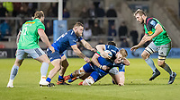 3rd January 2020; AJ Bell Stadium, Salford, Lancashire, England; English Premiership Rugby, Sale Sharks versus Harlequins;  Jean-Luc du Preez  of Sale Sharks is tackled by  Will Collier - Editorial Use