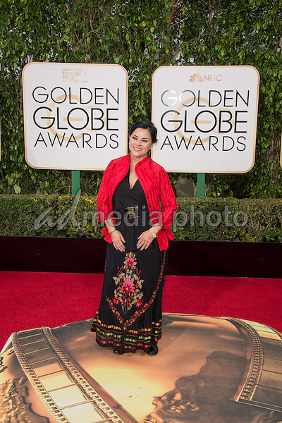 "Diana Gabaldon, author of the book ""Outlander"", that is the basis for the Golden Globe nominated BEST TELEVISION SERIES - DRAMA,  arrives at the 73rd Annual Golden Globe Awards at the Beverly Hilton in Beverly Hills, CA on Sunday, January 10, 2016. Photo Credit: HFPA/AdMedia"