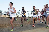 SANTA CLARA, CA - OCTOBER 15, 2016: Cal Cross Country during the Santa Clara Bronco Invitational.