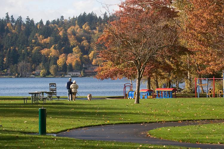 Newcastle Beach Park, Lake Washington, Bellevue, Washington, State, Pacific Northwest, USA