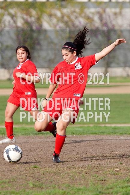 Los Angeles, CA 02/01/10 - Yasmin Gonzalez (Westchester #10) in action during the Westchester vs Fairfax Girls Varsity soccer game at Fairfax High School.