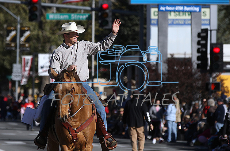 Congressman Dean Heller rides in the Nevada Day parade on Saturday, Oct. 30, 2010, in Carson City, Nev. .Photo by Cathleen Allison