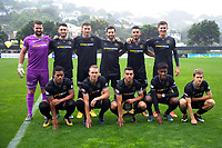 The Team Wellington starting XI before the Oceania Football Championship final (first leg) football match between Team Wellington and Lautoka FC at David Farrington Park in Wellington, New Zealand on Sunday, 13 May 2018. Photo: Dave Lintott / lintottphoto.co.nz