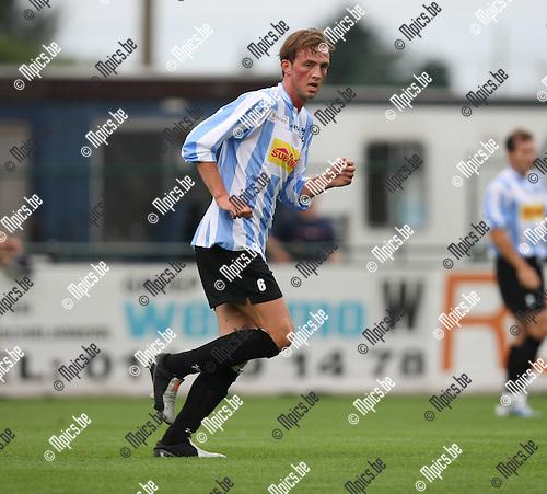 2008-08-09 / Voetbal / seizoen 2008-2009 / Verbroedering Geel-Meerhout / Kevin Wouters..Foto: Maarten Straetemans (SMB)