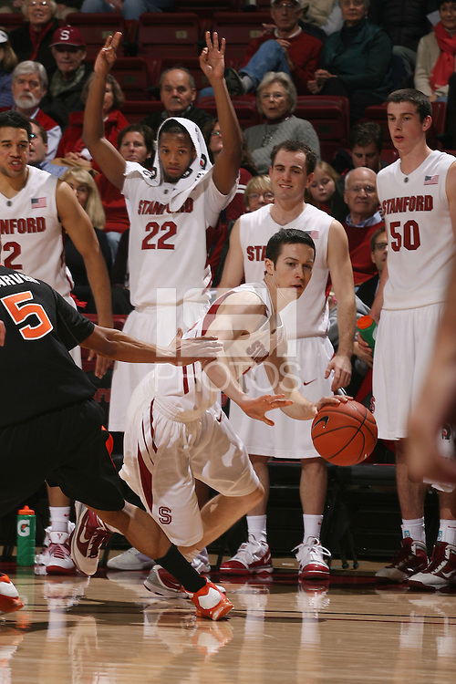 STANFORD, CA - JANUARY 21:  Chris Ebersole of the Stanford Cardinal during Stanford's 59-35 win over Oregon State on January 21, 2010 at Maples Pavilion in Stanford, California.