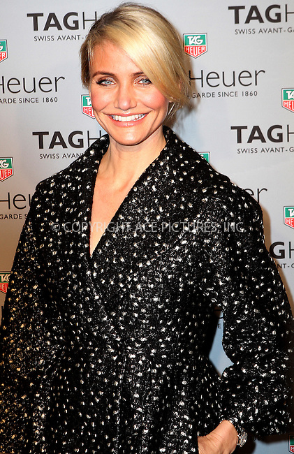 WWW.ACEPIXS.COM<br /> <br /> January 28 2014, New York City<br /> <br /> Actress Cameron Diaz attends the TAG Heuer New York City Flagship Store opening on January 28, 2014 in New York City. <br /> <br /> By Line: Nancy Rivera/ACE Pictures<br /> <br /> <br /> ACE Pictures, Inc.<br /> tel: 646 769 0430<br /> Email: info@acepixs.com<br /> www.acepixs.com