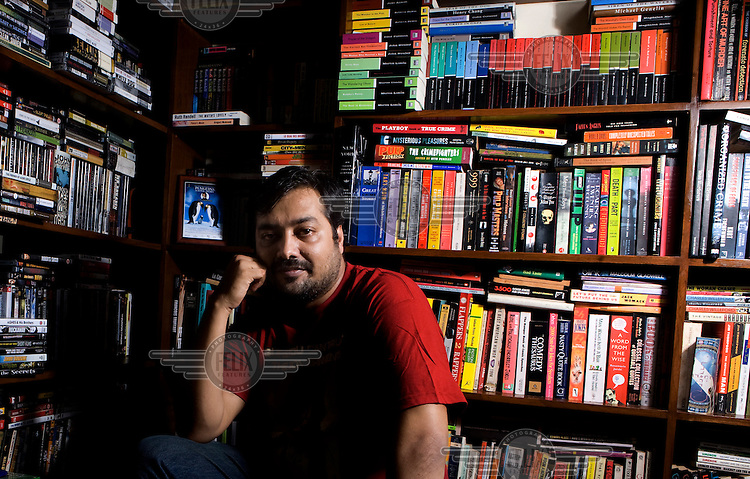 Anurag Kashyap, Bollywood film director at his home in Mumbai.