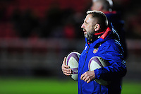 Bath Rugby Kit Manager Steve Middleton looks on during the pre-match warm-up. European Rugby Challenge Cup match, between Bristol Rugby and Bath Rugby on January 13, 2017 at Ashton Gate Stadium in Bristol, England. Photo by: Patrick Khachfe / Onside Images