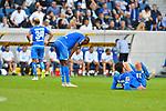 Frust bei Joelinton (TSG Hoffenheim #34), Joshua Brenet (TSG 1899 Hoffenheim #2), Ishak Belfodil (TSG Hoffenheim #19) beim Spiel in der Fussball Bundesliga, TSG 1899 Hoffenheim - Eintracht Frankfurt.<br /> <br /> Foto © PIX-Sportfotos *** Foto ist honorarpflichtig! *** Auf Anfrage in hoeherer Qualitaet/Aufloesung. Belegexemplar erbeten. Veroeffentlichung ausschliesslich fuer journalistisch-publizistische Zwecke. For editorial use only. DFL regulations prohibit any use of photographs as image sequences and/or quasi-video.