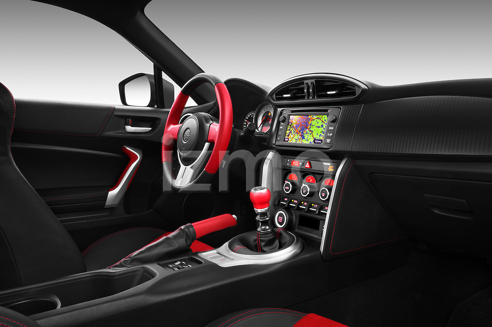 Passenger side dashboard view of a 2013 Toyota GT86 Sport Coupe.