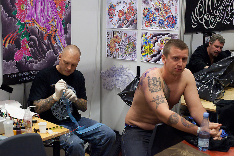 From the Kolding Tattoo Convention. Artists, guests and tattoos