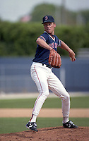 Boston Red Sox pitcher Joe Hesketh (55) during Spring Training circa 1992 at Chain of Lakes Park in Winter Haven, Florida.  (MJA/Four Seam Images)