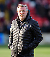 Lincoln City's club doctor Dr Chris Batty during the pre-match warm-up<br /> <br /> Photographer Chris Vaughan/CameraSport<br /> <br /> The EFL Sky Bet League Two - Lincoln City v Northampton Town - Saturday 9th February 2019 - Sincil Bank - Lincoln<br /> <br /> World Copyright &copy; 2019 CameraSport. All rights reserved. 43 Linden Ave. Countesthorpe. Leicester. England. LE8 5PG - Tel: +44 (0) 116 277 4147 - admin@camerasport.com - www.camerasport.com