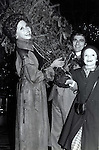 """Dudley Moore, Mary Tyler Moore and Kathleen Healy filming """"Six Weeks"""" at the Waldorf Astoria Hotel on December 1, 1982 in New York City."""