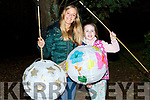 Emma Rose Galvin with her Au Pair Laia all set for the Lantern parade in Listowel on Saturday evening