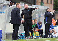 Wycombe Wanderers Assistant Manager, Martin Kuhl makes a point to Wycombe Manager, Gary Waddock during Wycombe Wanderers vs Colchester United, Coca Cola League Division One Football at Adams Park on 17th October 2009