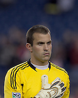 Real Salt Lake goalkeeper Kyle Reynish (24). In a Major League Soccer (MLS) match, Real Salt Lake defeated the New England Revolution, 2-0, at Gillette Stadium on April 9, 2011.