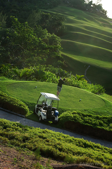 Golfer at Lemuria resort
