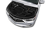Car stock 2019 Acura MDX Standard 5 Door SUV engine high angle detail view