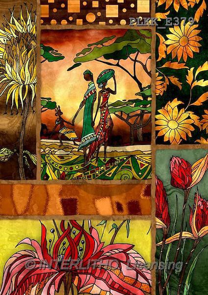 Kris, ETHNIC, paintings,+indigenous, women++++,PLKKE379,#ethnic# Africa