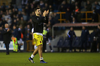 Jon Toral of Hull City applauds the away fans at the end of the match during Millwall vs Hull City, Emirates FA Cup Football at The Den on 6th January 2019