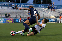 Cary, North Carolina  - Wednesday May 24, 2017: Kelley O'Hara, Jaelene Hinkle during a regular season National Women's Soccer League (NWSL) match between the North Carolina Courage and the Sky Blue FC at Sahlen's Stadium at WakeMed Soccer Park.