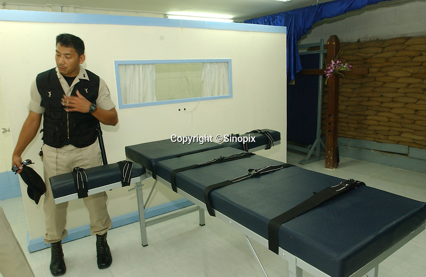 Execution bed at Thai prison