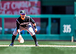 28 August 2016: Colorado Rockies first baseman Gerardo Parra in action against the Washington Nationals at Nationals Park in Washington, DC. The Rockies defeated the Nationals 5-3 to take the rubber match of their 3-game series. Mandatory Credit: Ed Wolfstein Photo *** RAW (NEF) Image File Available ***