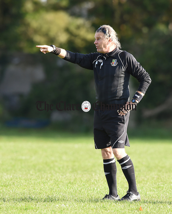 Referee Julian Stanford during a match in Corofin. Photograph by John Kelly.