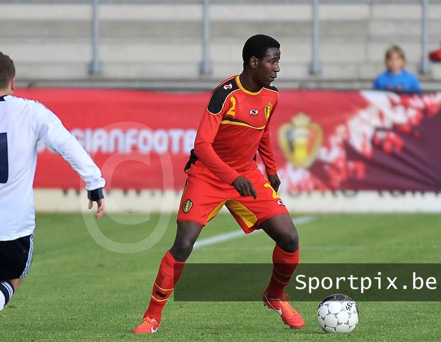 Scotland U19 - Belgium U19 : David Iboma.foto DAVID CATRY / Nikonpro.be