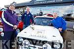 Jim O'Brien (Judge), Tommy Mason (Ballylongford) and Todd Falvey (Rathmore). Enjoying the Kerry Motors Works Tralee Fair in Banna on Sunday morning.