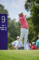 Tyrrell Hatton (ENG) watches his tee shot on 9 during round 3 of the WGC FedEx St. Jude Invitational, TPC Southwind, Memphis, Tennessee, USA. 7/27/2019.<br /> Picture Ken Murray / Golffile.ie<br /> <br /> All photo usage must carry mandatory copyright credit (© Golffile | Ken Murray)