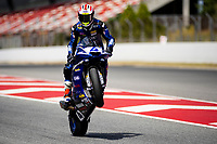 9th July 2020; Circuit de Barcelona Catalunya, Barcelona, Spain; FIM Superbike World Championship Test, Day Two; Steven Odendaal of the EAB Ten Kate Racing makes a wheelie with the Yamaha YZF R6