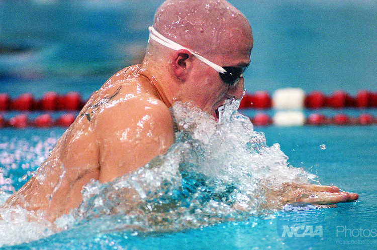 15 Mar 1997: Junior Brian Platt of Drury College swims in the finals of 200 m breastroke during the 1997 Division 2 Swimming Championships at the Palo Alto Natatorium in San Antonio, TX. The Drury men's team finished second to champion Oakland University. David Gonzales/NCAA Photos.