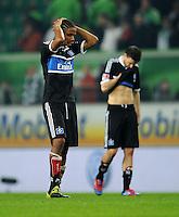 FUSSBALL   1. BUNDESLIGA   SAISON 2011/2012   27. SPIELTAG VfL Wolfsburg - Hamburger SV         23.03.2012 Michael Mancienne (Hamburger SV) ist nach dem Abpfiff enttaeuscht