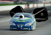 Aug. 31, 2012; Claremont, IN, USA: NHRA pro stock driver Jerry Eckman during qualifying for the US Nationals at Lucas Oil Raceway. Mandatory Credit: Mark J. Rebilas-
